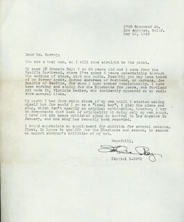 JOHNNIE RAY - TYPED LETTER SIGNED 05/18/1949