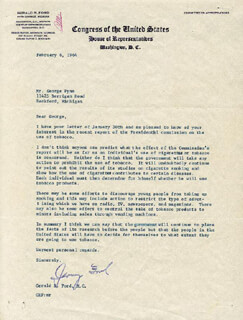 PRESIDENT GERALD R. FORD - TYPED LETTER SIGNED 02/06/1964