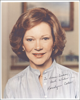 FIRST LADY ROSALYNN CARTER - AUTOGRAPHED INSCRIBED PHOTOGRAPH