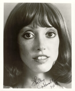 SHELLEY DUVALL - AUTOGRAPHED SIGNED PHOTOGRAPH 07/15/1981