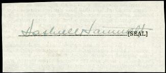 DASHIELL (SAMUEL) HAMMETT - CLIPPED SIGNATURE