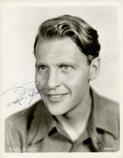 RALPH BELLAMY - AUTOGRAPHED SIGNED PHOTOGRAPH CIRCA 1959