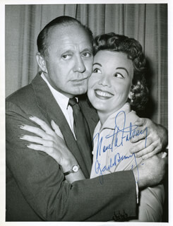 JACK BENNY - AUTOGRAPHED SIGNED PHOTOGRAPH CO-SIGNED BY: NANETTE FABRAY