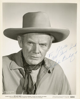 CHARLES BICKFORD - AUTOGRAPHED INSCRIBED PHOTOGRAPH