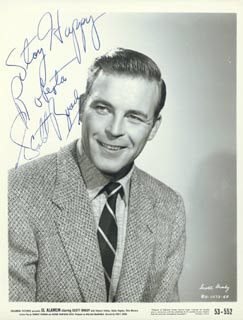 SCOTT BRADY - AUTOGRAPHED INSCRIBED PHOTOGRAPH