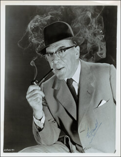LEO G. CARROLL - AUTOGRAPHED SIGNED PHOTOGRAPH