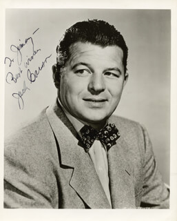 JACK CARSON - AUTOGRAPHED INSCRIBED PHOTOGRAPH