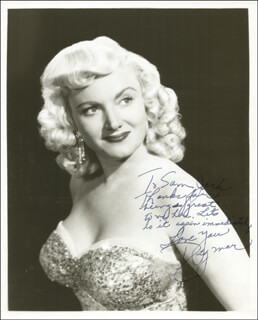 DAGMAR (VIRGINIA RUTH EGNOR) - AUTOGRAPHED INSCRIBED PHOTOGRAPH