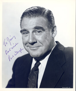 PAUL DOUGLAS - AUTOGRAPHED INSCRIBED PHOTOGRAPH