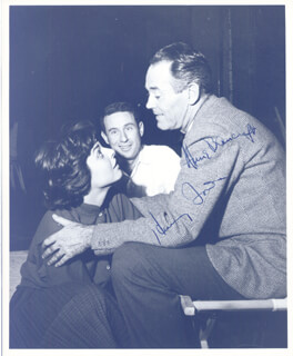 TWO FOR THE SEESAW MOVIE CAST - AUTOGRAPHED SIGNED PHOTOGRAPH CO-SIGNED BY: ANNE BANCROFT, HENRY FONDA