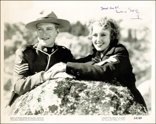 NELSON EDDY - AUTOGRAPHED SIGNED PHOTOGRAPH CO-SIGNED BY: JEANETTE MacDONALD