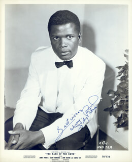 SIDNEY POITIER - AUTOGRAPHED SIGNED PHOTOGRAPH