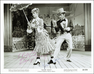 SHOW BOAT MOVIE CAST - AUTOGRAPHED INSCRIBED PHOTOGRAPH CO-SIGNED BY: GOWER CHAMPION, MARGE CHAMPION