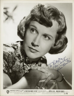 KIM HUNTER - INSCRIBED PRINTED PHOTOGRAPH SIGNED IN INK