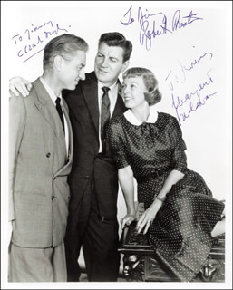 JANUS - PLAY CAST - AUTOGRAPHED INSCRIBED PHOTOGRAPH CO-SIGNED BY: CLAUDE DAUPHIN, MARGARET SULLAVAN, ROBERT PRESTON