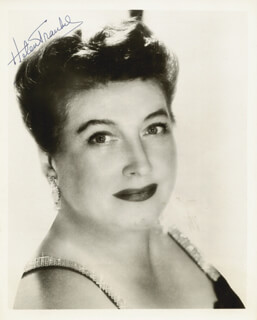 HELEN TRAUBEL - AUTOGRAPHED SIGNED PHOTOGRAPH