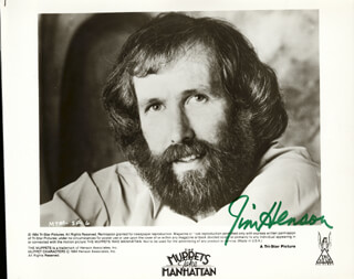 JIM HENSON - AUTOGRAPHED SIGNED PHOTOGRAPH