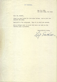 LEIF ERICKSON - TYPED LETTER SIGNED 05/12/1954