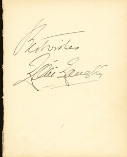 LILLIE THE JERSEY LILY LANGTRY - AUTOGRAPH SENTIMENT SIGNED