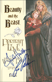 BEAUTY AND THE BEAST TV CAST - COMIC BOOK SIGNED CO-SIGNED BY: LINDA HAMILTON, RON PERLMAN