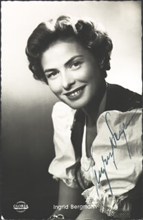 INGRID BERGMAN - PICTURE POST CARD SIGNED