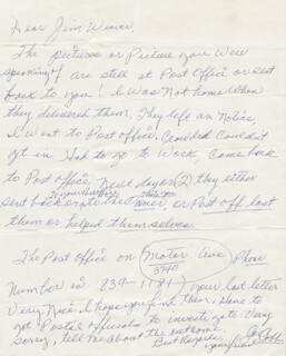 JOE COBB - AUTOGRAPH LETTER SIGNED