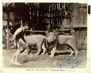 BUSTER CRABBE - AUTOGRAPHED INSCRIBED PHOTOGRAPH CIRCA 1933