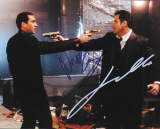 FACE OFF MOVIE CAST - AUTOGRAPHED SIGNED PHOTOGRAPH CO-SIGNED BY: JOHN TRAVOLTA, NICOLAS CAGE
