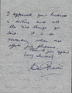 DAVID NIVEN - AUTOGRAPH LETTER SIGNED 1/30