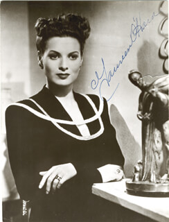MAUREEN O'HARA - PICTURE POST CARD SIGNED