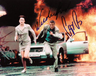 PEACEMAKER MOVIE CAST - AUTOGRAPHED SIGNED PHOTOGRAPH CO-SIGNED BY: GEORGE CLOONEY, NICOLE KIDMAN