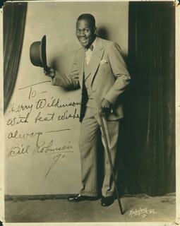 BILL BOJANGLES ROBINSON - AUTOGRAPHED INSCRIBED PHOTOGRAPH 1931