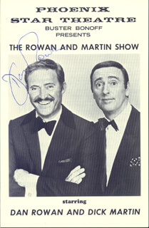 ROWAN & MARTIN (DAN ROWAN) - PROGRAM SIGNED