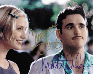 THERE''S SOMETHING ABOUT MARY MOVIE CAST - AUTOGRAPHED SIGNED PHOTOGRAPH CO-SIGNED BY: MATT DILLON, CAMERON DIAZ