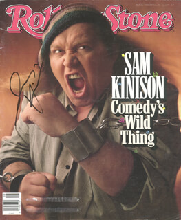 SAM KINISON - MAGAZINE COVER SIGNED