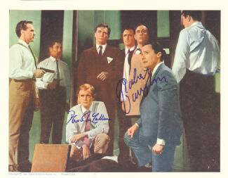 THE MAN FROM U.N.C.L.E. TV CAST - LOBBY CARD SIGNED CO-SIGNED BY: DAVID McCALLUM, ROBERT VAUGHN