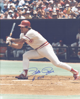 PETE ROSE - AUTOGRAPHED SIGNED PHOTOGRAPH