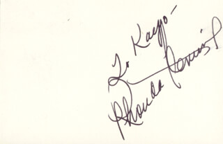 RHONDA FLEMING - INSCRIBED SIGNATURE