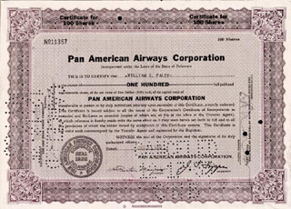 Autographs: WILLIAM S. PALEY - STOCK CERTIFICATE ENDORSED 12/12/1935