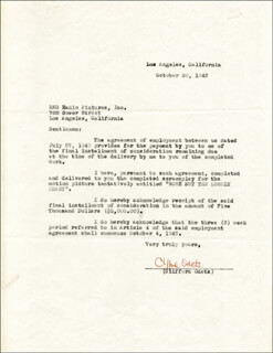 CLIFFORD ODETS - DOCUMENT SIGNED 10/20/1943