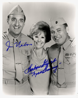 GOMER PYLE, U.S.M.C. TV CAST - AUTOGRAPHED INSCRIBED PHOTOGRAPH CO-SIGNED BY: JIM NABORS, BARBARA STUART