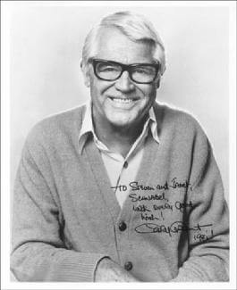 CARY GRANT - AUTOGRAPHED INSCRIBED PHOTOGRAPH 1981