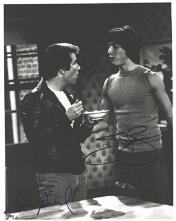 HAPPY DAYS TV CAST - AUTOGRAPHED SIGNED PHOTOGRAPH CO-SIGNED BY: SCOTT BAIO, HENRY THE FONZ WINKLER
