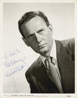 WENDELL COREY - AUTOGRAPHED SIGNED PHOTOGRAPH