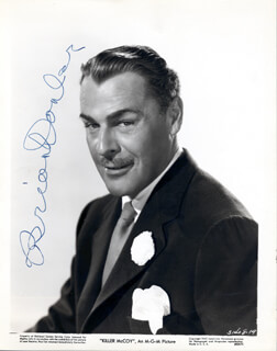 BRIAN DONLEVY - AUTOGRAPHED SIGNED PHOTOGRAPH CIRCA 1960