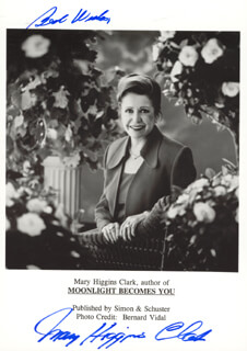 MARY HIGGINS CLARK - PRINTED PHOTOGRAPH SIGNED IN INK