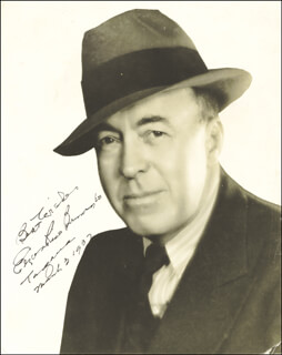 Autographs: EDGAR RICE BURROUGHS - PHOTOGRAPH SIGNED 03/03/1937