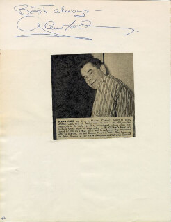GLENN FORD - AUTOGRAPH SENTIMENT SIGNED CO-SIGNED BY: THE DOMINOES (BILLY WARD)