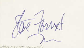 STEVE FORREST - AUTOGRAPH CO-SIGNED BY: JOAN CRAWFORD