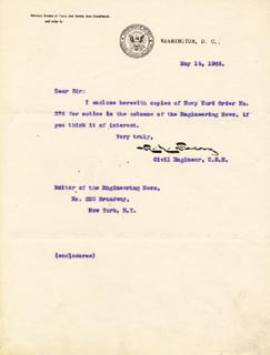 ADMIRAL ROBERT E. PEARY - TYPED LETTER SIGNED 05/15/1903